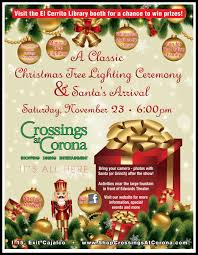 2013 tree lighting event flyer shop crossings at corona