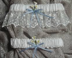 Garters For Wedding True Blue Bridal Garters Custom Wedding Garters