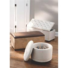 home decorators collection chambers round canvas shoe ottoman in