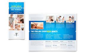 reflexology u0026 massage brochure template word u0026 publisher
