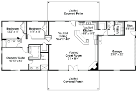 single story open floor plans best ideas about four house