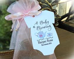baby shower party favors a baby is brewing baby shower favors diy bags favor tags
