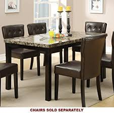 Dining Tables With Marble Tops Poundex Faux Marble Top Dining Table Home Kitchen