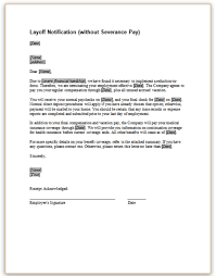 letter of termination of services notification of layoff without severance pay png