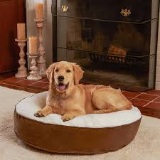Kirkland Dog Bed Amazon Com Happy Hounds Scout Deluxe Small 30 Inch Round Dog Bed