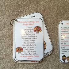 turkey songs and finger play preschool printables