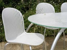 Outdoor Stainless Steel Furniture Furniture Mid Century Modern Outdoor Chairs With Back And