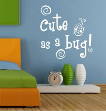 Boy Nursery Wall Decal Wall Decals Quotes As A Bug Blue Green Insects Baby Boys
