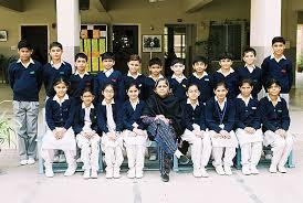 JahanAra, Aatra Azfar, Ayesha Badar, Maya Farid, Class Teacher Ms. Tabassum Imran, Nimra Azhar, Shifa Muneer, Sara Ehtesham, Komal Baloch. - 5a