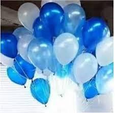 metallic balloons flipkart amfin solid an silve blue metallic balloons