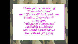 farewell party invitation brenda s farewell party invitation