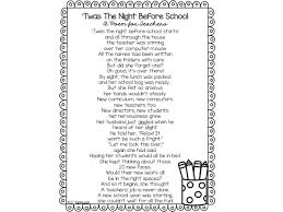 twas the before school a back to school poem for teachers