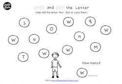 preschool letter w activities and worksheets little dots