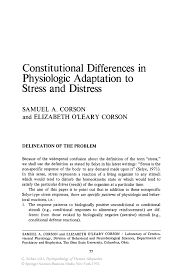 causal essay sample constitutional differences in physiologic adaptation to stress and inside