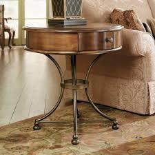 furniture wooden round storage end table beige textured rug