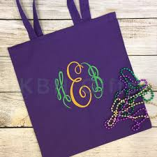 mardi gras bead bags mardi gras monogram canvas bead bag by keepsakesbyheather on etsy
