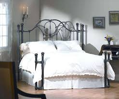 bed frame cast iron bed frame queen metal platform click black