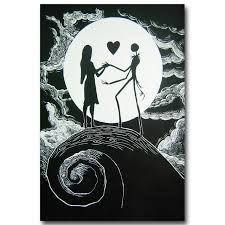 art story the nightmare before christmas art silk poster print