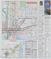 Mta Map Mta Maryland System Maps Baltimore Region Downtown Baltimore