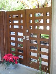 double wooden gate in contemporary style in tiburon ca gate