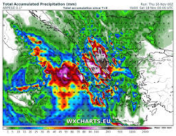 us weather map 48 hours new of torrential rainfall for parts of greece in the next