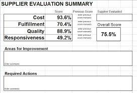 Supplier Scorecard Template Excel 1jpgvendor Evaluation Form Vendor Management Supplier Evaluation