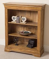 Small Rustic Bookcase French Rustic Small Solid Oak Bookcase With Shelves Office