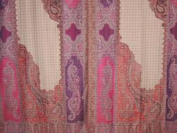 multicolor decorative paisley curtains panels 2 jamawar woven