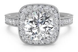 cushion engagement rings cut vintage cushion halo diamond band engagement ring with