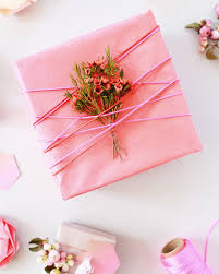 pink gift wrap diy spray painted gift wrap
