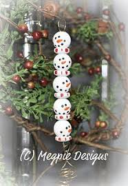cube snowman craft project handmade ornament arts