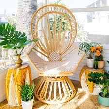 Justina Blakeney by Selamat Justina Blakeney The Zahra Peacock Chair Candelabra Inc