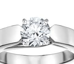cubic zirconia engagement rings white gold 4mm cubic zirconia flat tapered solitaire engagement ring in 14k