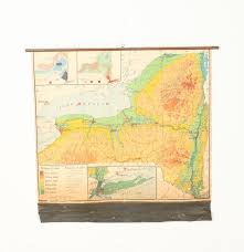 State Map Of New York by Vintage Wall Map Of New York State Ebth