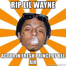 Bel Air Meme - rip lil wayne actor in fresh prince of bel air lil wayne meme