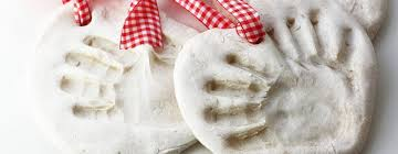 salt dough hand print ornament by kellie from this blessed nest