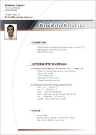 formation chef de cuisine chef executif curriculum vitae exemples executive chef resume