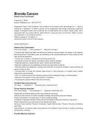 patient care coordinator resume gse bookbinder co