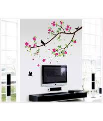 syga floral pvc vinyl multicolour wall stickers buy syga floral syga floral pvc vinyl multicolour wall stickers