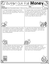 money word problems fractions decimals u0026 money 4th grade