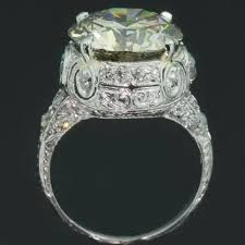 vintage estate engagement rings extravagant estate engagement ring with one 6 crt bulky