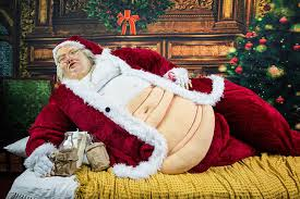 santa claus santa the hutt an obese santa claus sculpture made in the likeness