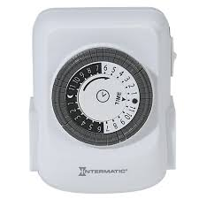 Intermatic Timers Dimmers Switches U0026 by Intermatic 15 Amp Plug In 2 Outlet Heavy Duty Indoor Timer White