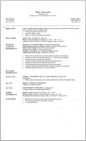 Nurse Resume Example by Student Nurse Resume Clinical Experience Free Cv Template Free