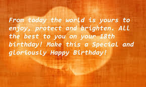18th birthday wishes quotes for her best wishes