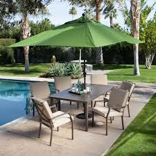 Patio Table Cover With Umbrella Hole Zipper by Coral Coast Bellagio Cushioned Aluminum Patio Dining Set Seats 6