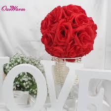 silk ribbon roses 4pcs 18cm 7inch silk ribbon flower artificial pomander