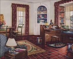 1920s home interiors 1931 traditional style living room armstrong linoleum 1930s