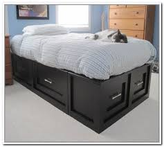 Queen Storage Beds With Drawers 35 Queen Platform Beds With Storage Platform Beds With Headboard