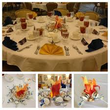 Centerpieces For Banquet Tables by S U0027mores Campfire Centerpieces For Blue And Gold Banquet Yummy
